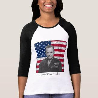 General Puller y la bandera americana Playera