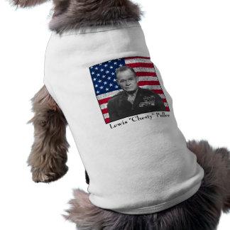 General Puller y la bandera americana Camiseta De Mascota