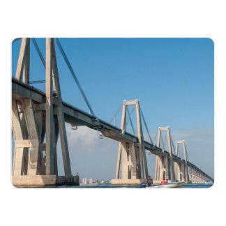 General Rafael Urdaneta Bridge Maracaibo Venezuela 6.5x8.75 Paper Invitation Card