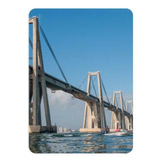 General Rafael Urdaneta Bridge Maracaibo Venezuela 4.5x6.25 Paper Invitation Card