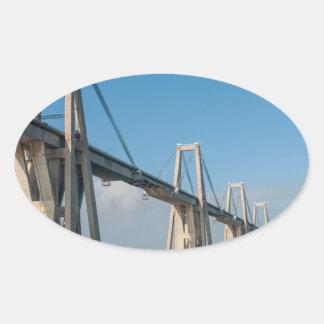 General Rafael Urdaneta Bridge Maracaibo Venezuela Oval Sticker