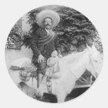 General revolucionario mexicano de Pancho Villa Pegatina Redonda