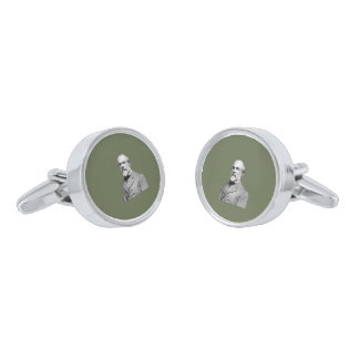 General Robert E. Lee  Army Green Cufflinks