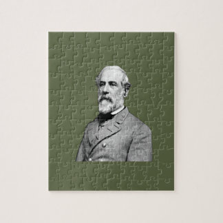 General Robert E. Lee  Army Green Jigsaw Puzzle