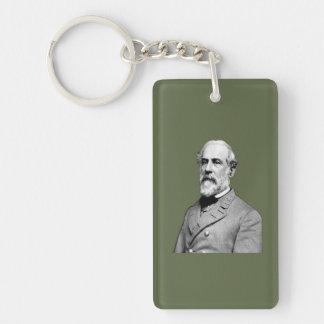 General Robert E. Lee  Army Green Keychain