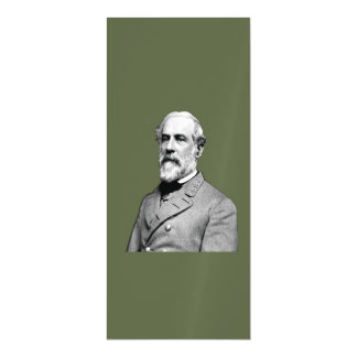 General Robert E. Lee  Army Green Magnetic Card