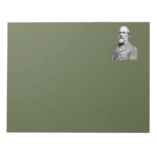 General Robert E. Lee  Army Green Notepad