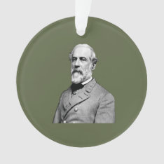 General Robert E. Lee  Army Green Ornament at Zazzle
