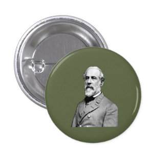 General Robert E. Lee  Army Green Pinback Button