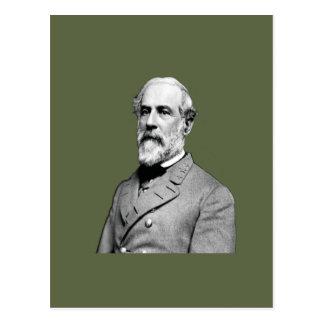 General Robert E. Lee  Army Green Postcard