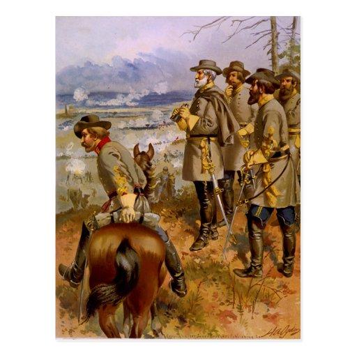 General Robert E. Lee at Fredericksburg by A Ogden Postcard