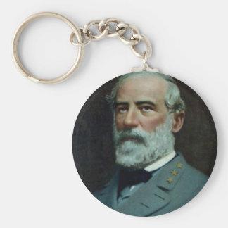 General Robert E. Lee Basic Round Button Keychain