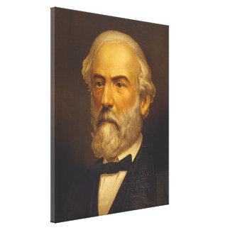 General Robert E. Lee by Strobridge & Co. Litho Canvas Print