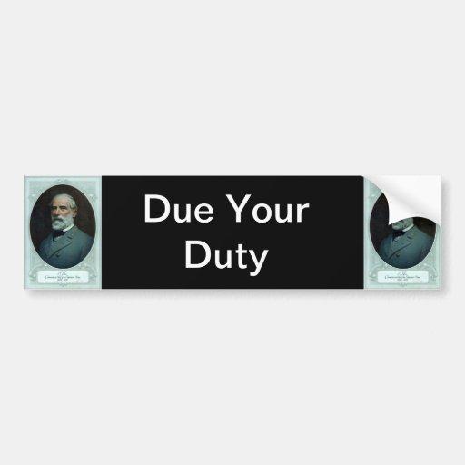 General Robert E. Lee Car Bumper Sticker