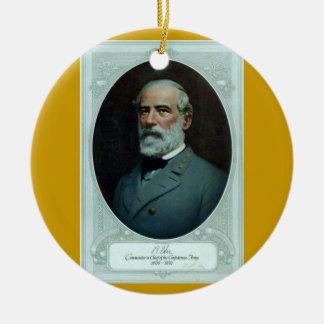 General Robert E. Lee Ceramic Ornament