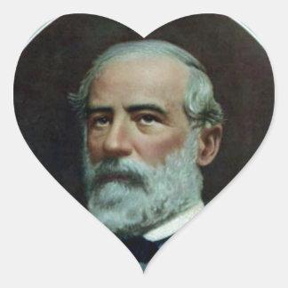 General Robert E. Lee Heart Sticker