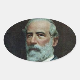 General Robert E. Lee Oval Sticker