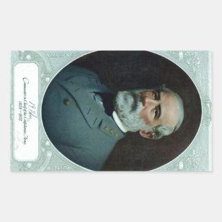 General Robert E. Lee Rectangular Sticker