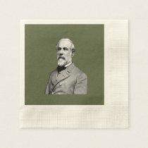 General Robert E. Lee USA Army Green Paper Napkin