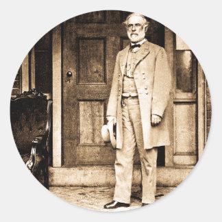 General Robert E. Lee Vintage Mathew Brady Classic Round Sticker
