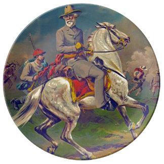 General Roberto E. Lee 1886 Plato De Cerámica