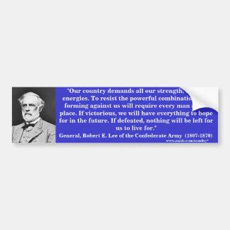 General Roberto E. Lee, Bumber 4 Etiqueta De Parachoque