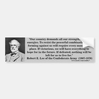 General Roberto E. Lee, Bumber 5 Etiqueta De Parachoque