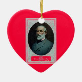 General Roberto E. Lee Adorno De Cerámica En Forma De Corazón