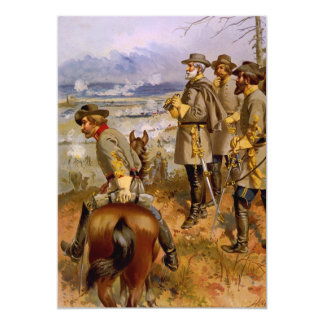 General Roberto E. Lee en Fredericksburg por un Invitación 12,7 X 17,8 Cm