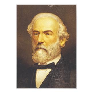 General Roberto E. Lee por el Lith de Strobridge y Invitación 12,7 X 17,8 Cm