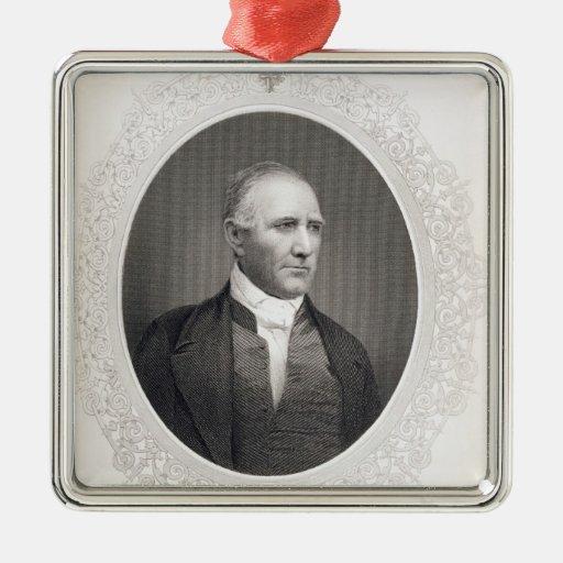 General Samuel Houston Square Metal Christmas Ornament