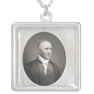 General Samuel Houston Silver Plated Necklace