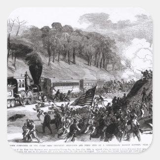 General Schenck con cuatro compañías Pegatina Cuadrada