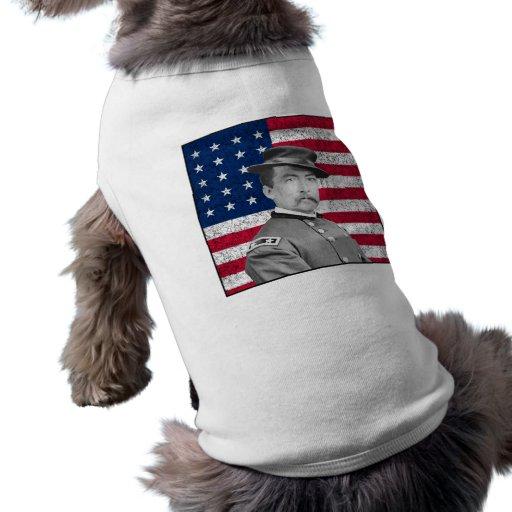 General Sheridan y la bandera americana Camisa De Mascota