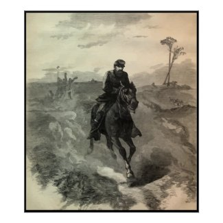 General Sheridan's Ride -- With Border print