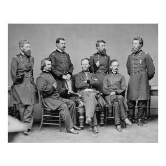 General Sherman and His Staff Poster