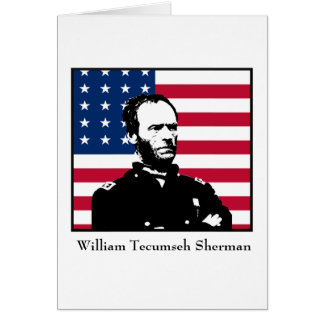 General Sherman and the American Flag Greeting Cards