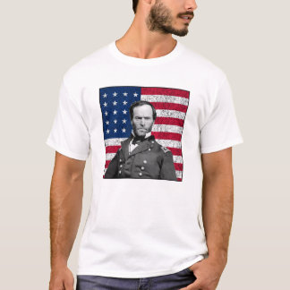General Sherman and The American Flag T-Shirt
