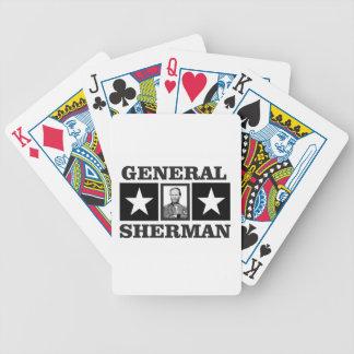 general Sherman art Bicycle Playing Cards
