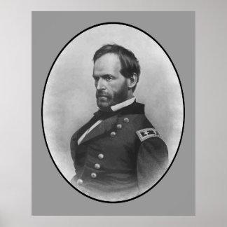 General Sherman -- Civil War Hero Poster