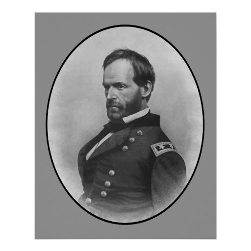 General Sherman -- Civil War Hero Poster