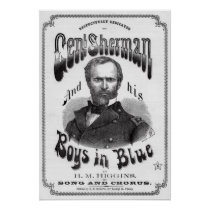 GENERAL SHERMAN CIVIL WAR SHEET MUSIC COVER 1865