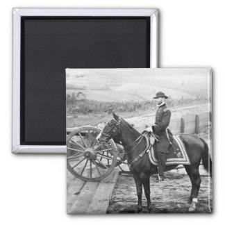 General Sherman en Atlanta, 1864 Imán Cuadrado