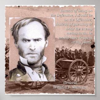 General Sherman en la ofensiva Póster