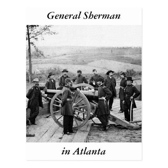 General Sherman in Atlanta, 1864 Postcard