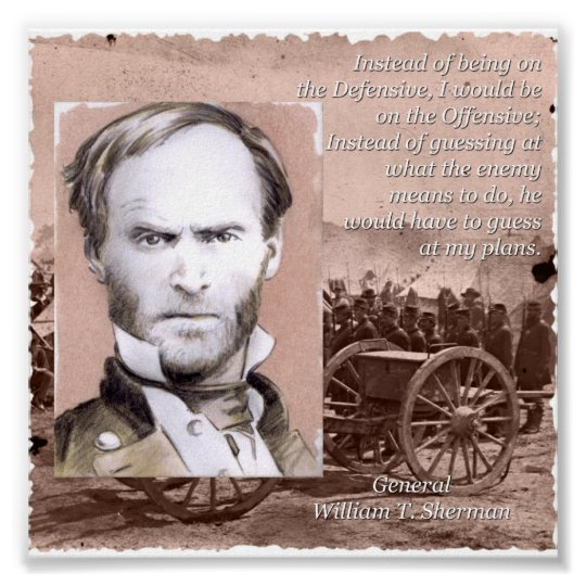 General Sherman on the Offensive Poster