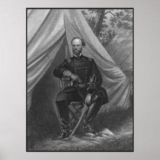 General Sherman Painting -- Border Poster