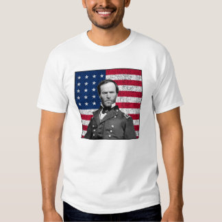 General Sherman y la bandera americana Polera