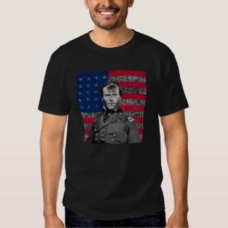 General Sherman y la bandera americana Poleras