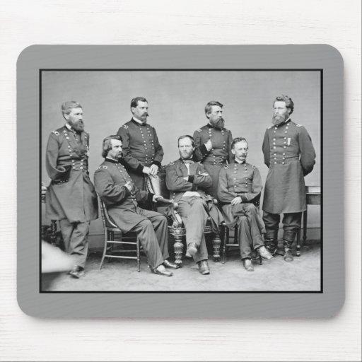 General Sherman y su personal Alfombrilla De Ratones